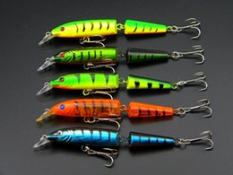 500Pcs Fishing Lures 105mm 9.6g Artificial Hard Lure Minnow Baits with Hook Attractive 3D Eyes