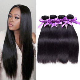 2017 natural hair wholesale india Productos al por mayor brasileños al por mayor del pelo del grado 7A de las extensiones del pelo de 3pcs del pelo humano brasileño de la armadura de StraightHair el 100% natural hair wholesale india Rebaja