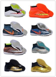 Wholesale New Elastico Superfly IC Indoor Soccer Shoes High Ankle Superfly TF Turfc Soccer Boots Futsal football