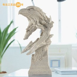 Wholesale New product ideas Home Furnishing resin crafts home decoration sandstone sculpture Eagle head pattern high grade