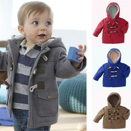 Baby Boys Jacket Clothes 2016 New Winter 4 Colors Outerwear Coat Thick Kids Clothes Children Clothing With Hooded Retail Hot