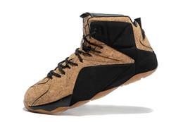 Wholesale 2016 Brown Shoes Cork MVP Campeón Ironman Limit Mens Athletic Zapatillas de baloncesto Nombre barato hombres de marca LBJ10 Al aire libre Athletics Shoes