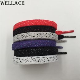 Wholesale pairs Weiou sports shoelaces splatter flat shoe laces custom white shoelace replacement boot laces speckled Wholesales