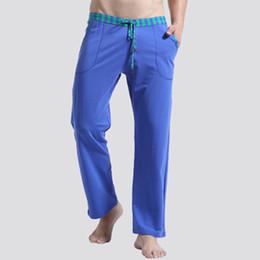 Wholesale Men Sleep Lounge Loose pants Cotton mens Solid bottoms Breathable Men pants casual Yoga Pajamas Pants Trousers Home Wear Pyjamas