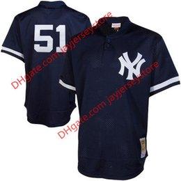 Wholesale Men s New York Yankees Bernie Williams Mitchell Navy Cooperstown Mesh Batting Practice Jersey