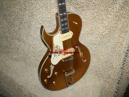 Guitares main gauche corps creux en Ligne-NEW Gaucher Guitare 175 Corps creux guitare électrique Goldtop Guitare OEM