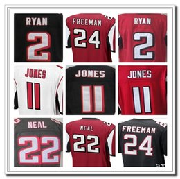 Wholesale Men s Atlanta and Falcons Embroidery Name Number Matt Ryan Julio Jones Devonta Freeman Color White Red Size M XXXL