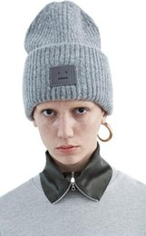 Wholesale 2015 New fashion winter unisex wool acne studios smile hats Parent child cap colors wool elastic warm fashion