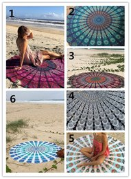 Wholesale Euro style chiffon round Beach Towel round shawl multicolors EMS