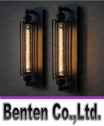 2017 marcos libres Luz de la lámpara de pared Edison 60w Vintage Loft Industrial Para el hogar lámpara de pared de metal característica de la fábrica capítulo libera el envío LLFA289 marcos libres en oferta