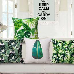 tropical leaf cushion cover green leaves cojines country almofada rainforest throw pillow case for sofa chair banana plant almofadas