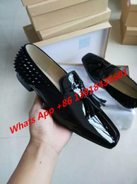 Wholesale Patent leather summer man red bottom men casual shoes