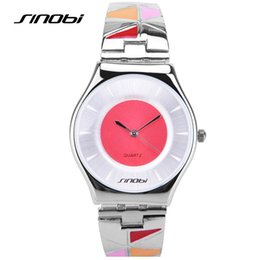 Marca Sinobi marca Ultra-finas estilo de la Mujer de estilo multicolor relojes de cuarzo Relojes de pulsera impermeable Mujer Relojes de mujer de moda desde mujer del estilo de reloj resistente al agua proveedores
