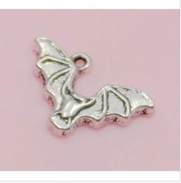 Free Ship 200Pcs Tibetan Silver Bat Pendant Charms For Jewelry Making Bracelet 24x15mm
