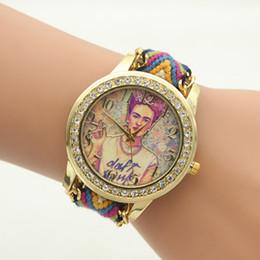 Descuento mujer del estilo de reloj resistente al agua Verano estilo de tricotar trenzado reloj de pulsera mujer impermeable reloj de señora Ginebra Marca Moda Rhinestones Relojes