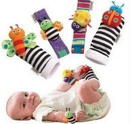 Chaussettes lamaze hochet à vendre-En Stock 2016 sozzy poignet balai chute de bébé bébé jouets bébé trapèze chaussettes Lamaze poignet poignet hochet + pied bébé chaussettes 1000pcs