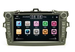 Consola gris en Línea-2 din 7 pulgadas de coches reproductor de DVD de navegación GPS con radio Bluetooth para Toyota Corolla 2007-2012