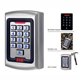 Wholesale SIB Backlight Keypad Metal Shell IP68 Waterproof RFID KHZ EM Card Door Access Controller For One Door Cards Code Card Code F1257D