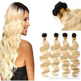 Ombre T1B  613 Brazilian Best Quality Virgin Human Hair Extensions Grace Hair Double Weft No Shedding for party
