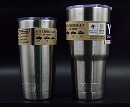 Wholesale 2pcs YETI new Stainless Steel Insulation Cup OZ OZ Cups Cars Beer Mug Large Capacity Water Coffe