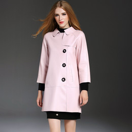 Wholesale Europe Brand New Designer PU Leather Women Coats Winter Autumn Top Fashion Style Best Price Fast Shipping Sexy Pink Color XL YM16504