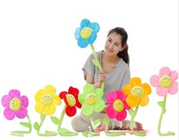 Wholesale 12PCS plush sunflower for baby shower decoration kis birthday party supply favor free to fold and bent decor curtains and baby bed