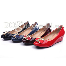 Wholesale summer women Bowtie pumps Brand Designe shoe women fashion Flats wedges Office Career shoes Fashion casual Boat shoe and High heeled shoes