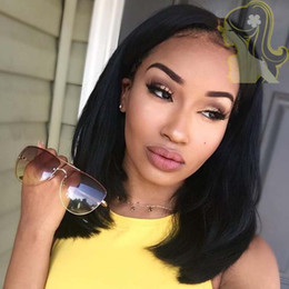Short Brazilian Hair Wigs For Black Women Natural Color Silk Straight Human Hair Wigs Bob Glueless Full Lace Wig With Baby Hair