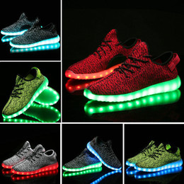 Wholesale Hot Melbourne Shuffle Dance Rio Olympic Unisex LED Light Lace Up Luminous Shoes Sports wear Sneaker Casual Skateboard Ghost dancing