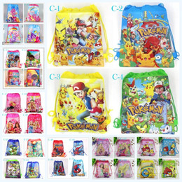 Wholesale New Cartoon Style PAW PATROL Kids Purse paw patrol snow slide super heros boys and girls Non woven Drawstring bag Kids Birthday Children Gif