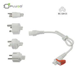 Wholesale PLUGO KIT033WH Easy Pull Universal Travel Laptop Power Adapter Cable for Lenovo ASUS Acer With EU AU US UK Plug