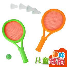 Juguete de la raqueta de tenis en Línea-Envío libre del bebé raqueta de tenis raqueta Volante de niños Juguetes Juguetes al aire libre para jugar tenis de mesa bádminton