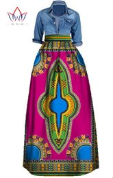 Wholesale Long Maxi Skirts for Women African Clothing Pencil Skirt Private Custom High Waist Skirt Unique Original Long Maxi Skirts