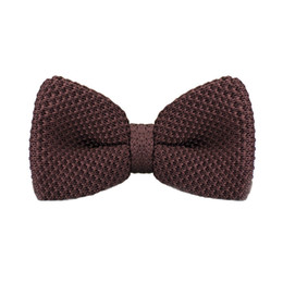 Men's Tuxedo Adjustable Brown Bow Tie Party Business Casual cotton Bow Tie Gift Box Men's Fashion Accessories F-318