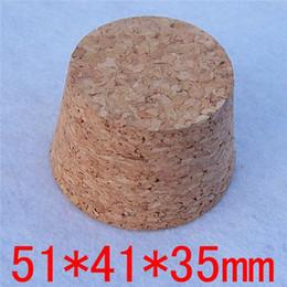 Livraison gratuite 51 * 41 * 35mm Big bouteille de verre de vin bouteille de pot de pot de sceau Bouteilles de bouchons doux bouchons de tube de test à partir de grandes bouteilles liège fournisseurs