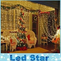 Wholesale 3M х м СИД Fairy занавесы шнура световое окно сосулька фары идеально подходит для внутреннего Открытый Дом Сад Рождественская вечеринка Свадьба