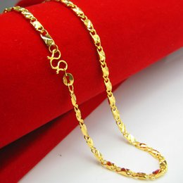 Our jewelry gold necklace and gold chain imitation gold 999 gold day gift chain shaped clavicle