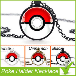 Wholesale 2016 New Poke Halder Necklace Vintage Retro Time Gemstone Ball Pendant Necklace Jewelry Gifts XMas free DHL shipping