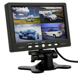 Quad lcd en Ligne-7 pouces 4 Split Quad TFT LCD affichage DC 12V voiture Rear View Headrest moniteur pour DVD inverser caméra vente chaude
