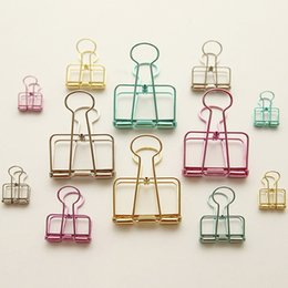 Wholesale Storage medium color hollow tail clip book Bill clip hand clip clip retro account dovetail