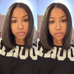 Short female haircuts for black women synthetic lace front wig heat resistant Synthetic Hair african american bob wigs in stock wholesale