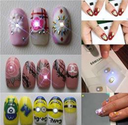 100pcs lot Mobile Sensors NFC Nail Stickers Blinking Nail Art Stickers With LED Light Flash White Light Decoration Free Shipping