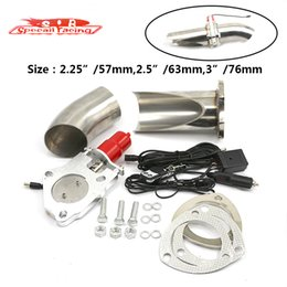 Wholesale SR quot quot quot Electric Exhaust Cutout Cut Pipe Racing Exhaust Valve System Kit With Wireless Remote
