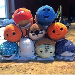 Wholesale 2016 Hot Sales Tsum Tsum Mini Plush Finding Dory Tsum Nemo Set Whale Bailey Baby Otter Crush Sea Turtle Octopus Hank