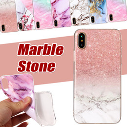 Marble Stone Case Painted Soft TPU Silicone Protective Shockproof Cover Case For iPhone XS Max XR X 8 7 6 Plus Samsung Galaxy Note 9 S9 S8