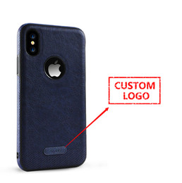 Wholesale Customize Logo Luxury Phone Case for iPhone 8 Ultra Thin Soft TPU Leather Pattern Phone Shell