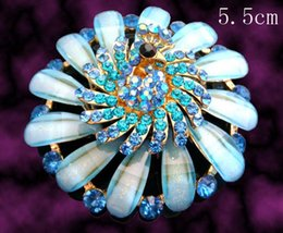Wholesale Women fashion Gold plated Zinc alloy crystal rhinestone brooches costume jewelry Free shipping 12pcs lot Mixed colors BH774