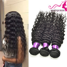 7A Malaysian Deep Wave Virgin Hair 4 Bundles Brazilian Peruvian Indian Mongolian Deep Wave Malaysian Hair Deep Curly Hair Queen Hair Product