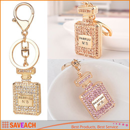 Wholesale Perfume Bottle Luxury Keychain Key Chain Key Ring Holder Car Keyring Porte clef Gift Women Souvenirs Bag Pendant