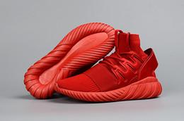 2017 altos tops hombres 45 Y3 Zapatos tubulares para los hombres y las mujeres rojo Octubre Negro Gris Blanco Y-3 Alto Top Zapatillas Aumento Tamaño 36-45 altos tops hombres 45 promoción